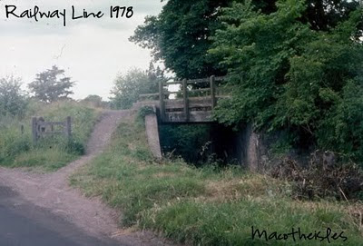 railway line over Perth lade in 1978