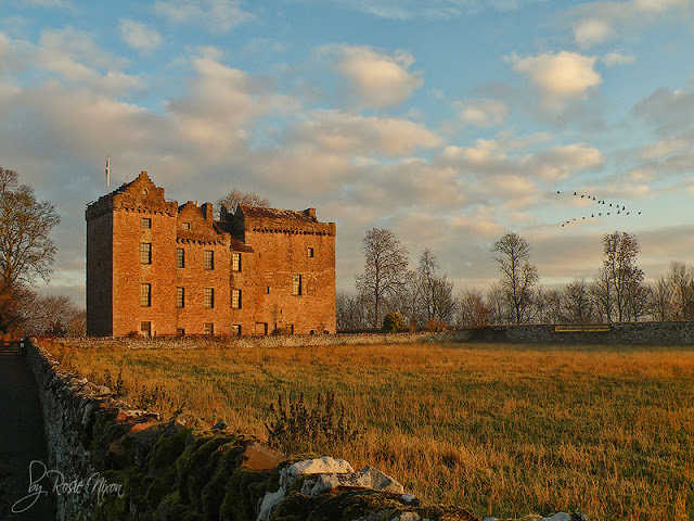 Huntingtower Castle at Sunrise
