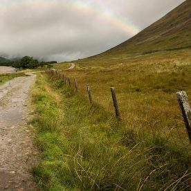 fence and path on west highland way, near Glasgow, Scotland