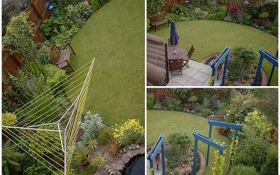 this is an image of the back garden in summer 2007
